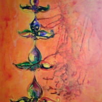 Égig érô fa, tarsoly motívum, 80x100cm, 2015