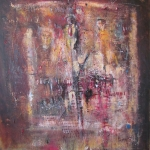 (201.)    Sanctus      80x100         2015.   Akril, vegyes technika
