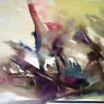 (406.)  A fák állva halnak meg 70x50 akvarell