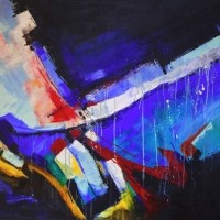 5.  - Téli táj     - 80 x 100 cm  -akril -  2008