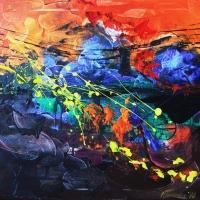 7.   - Mennydörgés - 70 x 80 cm - akril -2008