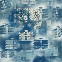 Angyalsereg 2010, akril, vászon, 50x70