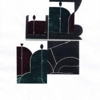 Csótó László_Mozaik (lino-puzzle,A4)_2015