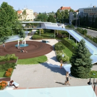 Dunaszerdahely - Közpark a VMK előtt - látványterv - (2007)
