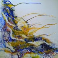 Kék hangulat, 80x80cm, 2015