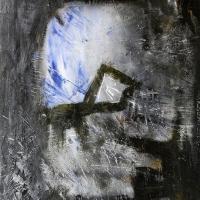 Lélekkapu (Kövek vonulása) 2000, akril, karton, 70x100