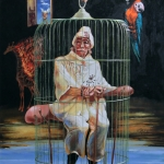 Szegény Salvador sorsa beteljesedett, olaj, 2010 (110x80 cm)