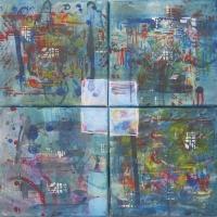 Város 2011, akril, vászon, 40x40