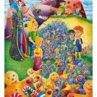 A varázsló josága , akril,  21,5x30 2007