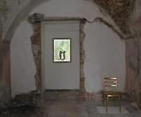 Kép a falon, helyspecifikus video installáció, Keglevich kastély, Torna