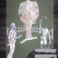 Képmutatók kertje, 50x70, kollázs
