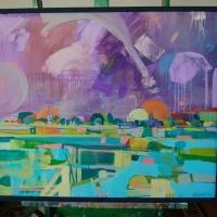 05 Csallóközi impresszió II_Impressia Zitneho ostrova II - 100x80cm - akryl