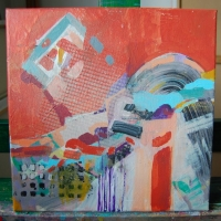 10 Piros a háttérben_Opodial cervena - 30x30cm - akryl