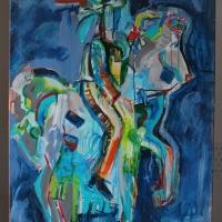 11 Magányos lovas_Osamely jazdec - 80x100cm - akryl