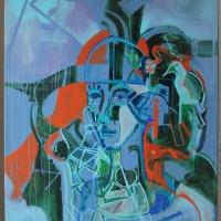 16 Madárének_Spev vtakov - 80x100 cm - akryl